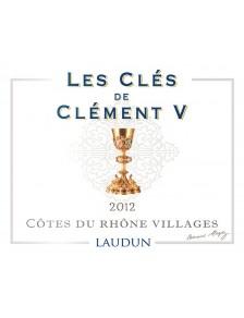 Les Clés de Clément V 2012 - Côtes du Rhône Villages Laudun Rouge
