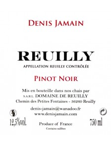 Denis Jamain - Reuilly Rouge- Les Pierres Plates 2017