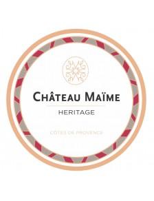 Château Maïme - Héritage Côtes de Provence Rouge 2017