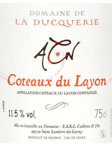 Domaine de La Ducquerie - Coteaux du Layon 2018