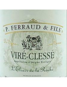 """P. Ferraud - Viré-Clessé """"L'Elixir de la Roche """" 2018"""