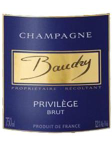 Champagne Baudry Brut Privilège x6