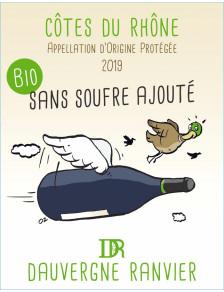 Côtes du Rhône Bio sans souffre ajouté 2019