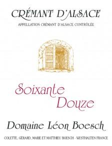 Crémant d'Alsace Brut - Soixante Douze Bio