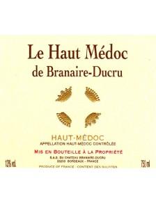 Le Haut-Médoc de Branaire Ducru 2008
